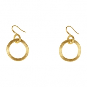 Jaipur 18ct Yellow Gold Links Hoop Drop Earring