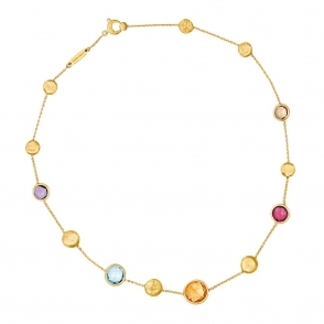 Jaipur 18ct Yellow Gold Mixed Stone Necklace