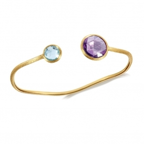 Jaipur 18ct Yellow Gold Stone Set Bangle