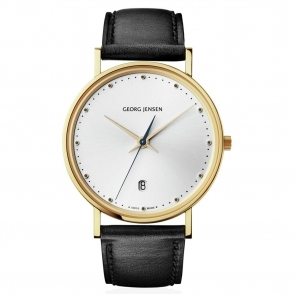 Koppel Slim design 8418. 18ct yellow gold plated 38mm gents quartz watch with silver dial - 3575489