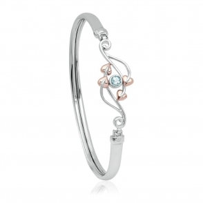 Love Vine Aquamarine Bangle
