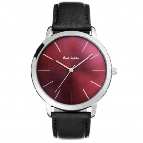 Ma Quartz 3 Hands Watch with Burgundy Dial. 41mm