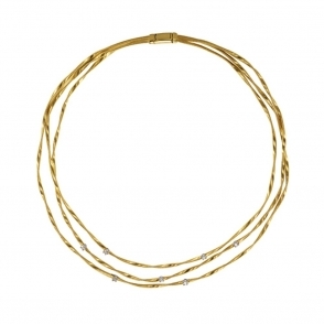 Marrakech 18ct Yellow Gold 3 Strand Necklace
