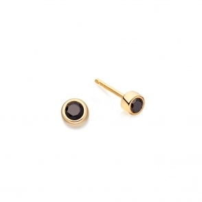 Mini Black Spinel Stilla Stud Earrings