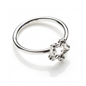 Mini Star Silver Ring