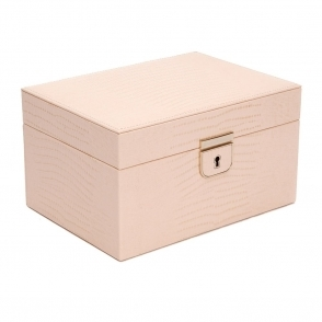 Palermo Small Jewellery Box in Blush Teju Lizard Finish