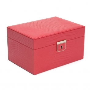 Palermo Small Jewellery Box in Coral Teju Lizard Finish