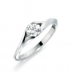 Palladium Brilliant Cut Diamond Solitaire 1T73A