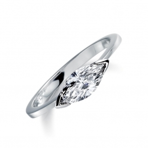 Palladium Marquise Diamond Ring