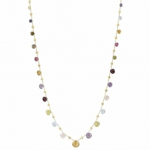 Paradise 18ct Gold Double Wave Mixed Gem Necklace