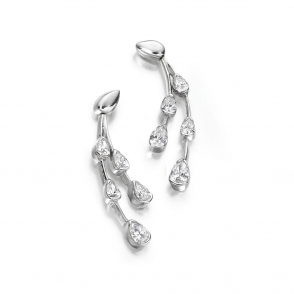 Pear Shape Diamond Earrings in 18ct White Gold