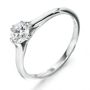 Platinum 8 Claw solitaire Diamond Ring