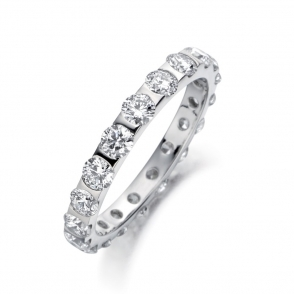 Platinum Brilliant Cut Diamond Eternity Ring