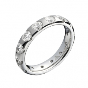 Platinum Brilliant Cut Diamond Wedding Ring. Design no. 1U45C