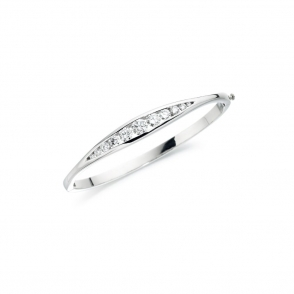 Platinum Diamond Set Bangle. Design No. 1T88A