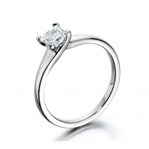 Platinum Princess Cut Diamond Ring 1U26A