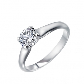 Platinum Solitaire Brilliant Cut Diamond Ring 1Q73C