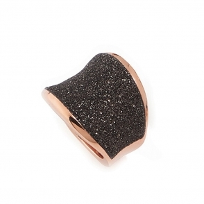 Polvere di Sogni Pink Sterling Silver & Bronze Dust Saddle Ring