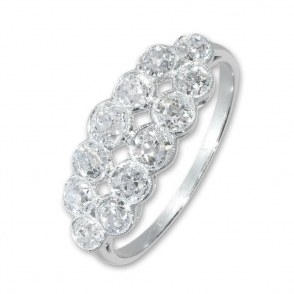 Pre owned old cut diamond ring