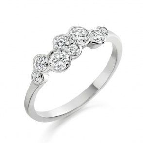 Rubover Set Brilliant Cut Diamond Ring