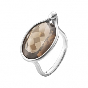 Savannah Sterling Silver and Smokey Quartz Ring