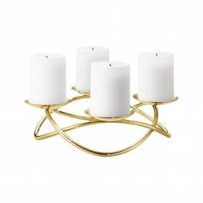 Season Large Gold Candleholder