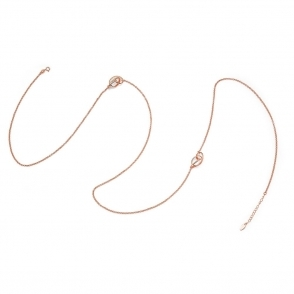 Serenity Opera Length Necklace in Rose Gold Finish