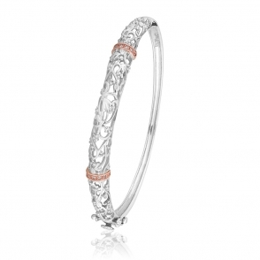 Silver and 9ct Gold Am Byth Bangle