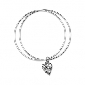 Silver Dotty Bangle