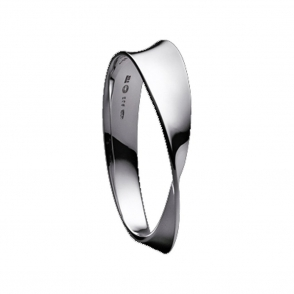 Silver Mobius Bangle
