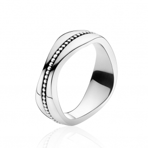 Silver Modern Ring 574A