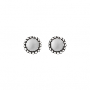 Silver Moonlight Blossom Studs