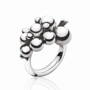 Silver Small Moonlight Grapes Ring