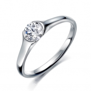 Single Round Brilliant Cut Diamond Ring