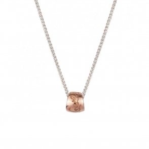 Sterling Silver and 9ct Rose Gold Que Sera Necklace
