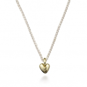 Sterling Silver and 9ct Yellow Gold Sweetheart Necklace