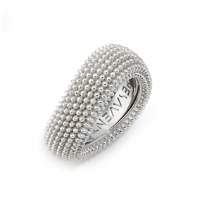 Sterling Silver and Rhodium Pixel Ring