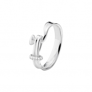 Sterling Silver & Diamond Torun Ring