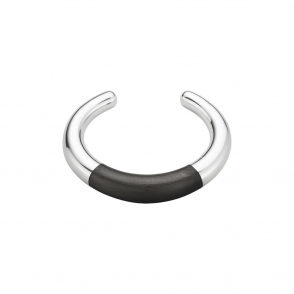 Sterling Silver & Ebony Aura Bangle