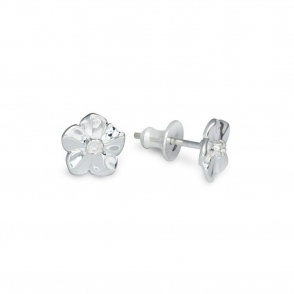 Sterling Silver Forget-Me-Not Stud Earrings