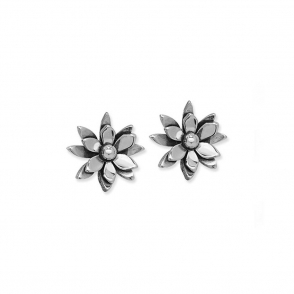 Sterling Silver Lily Pond Stud Earrings