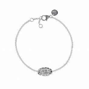 Sterling Silver Memento Pebble Single Bracelet