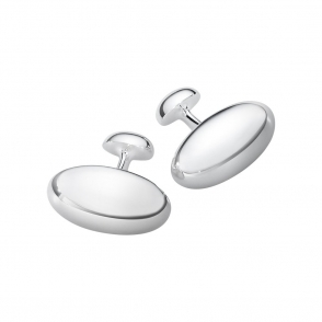 Sterling Silver Men's Classic Cufflinks 608B