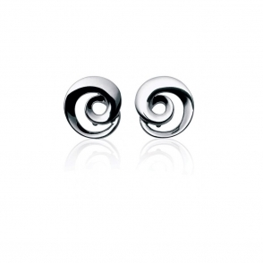 Sterling Silver Mobius Stud Earrings