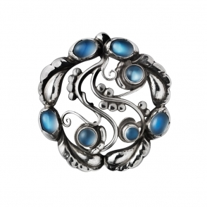 Sterling Silver Moonlight Moonstone Brooch