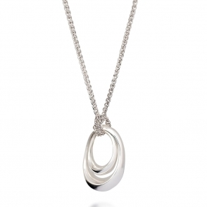 Sterling Silver Mother & Baby Necklace