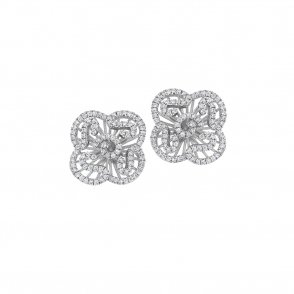 Sterling Silver Rhodium Cascade Mini Earrings