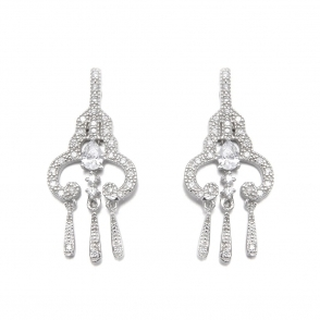 Sterling Silver Romance Margot Earrings