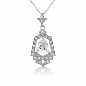 Sterling Silver Royal Crest Pendant