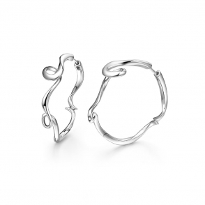 Sterling Silver Serenity Small Hoop Earrings
